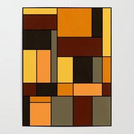 Mondrian Autumn Poster