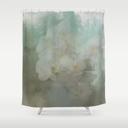 Abstract Tropical Flora Shower Curtain