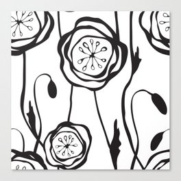 whimsical poppies Canvas Print