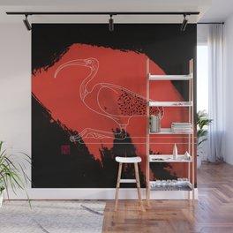 Scarlet Ibis Wall Mural