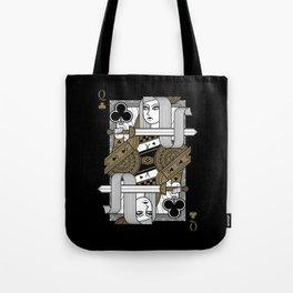 Omnia Suprema Queen of Clubs Tote Bag