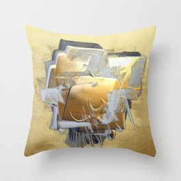 Silver and Gold on Gold Throw Pillow