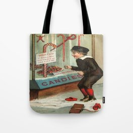 Wanted - A Boy To Lick Christmas Candy Cane Tote Bag