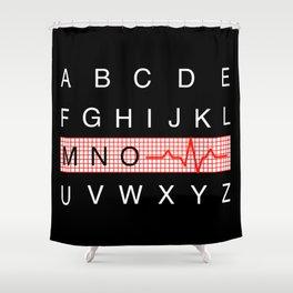 Medical Alphabet Shower Curtain