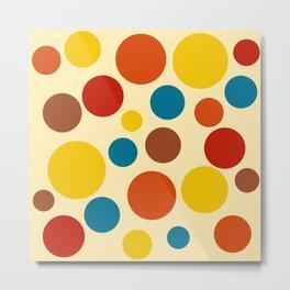 1970s Abstract Art Circles Metal Print