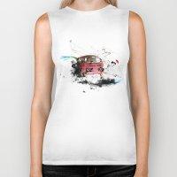 volkswagen Biker Tanks featuring volkswagen van by Adriana Bermúdez