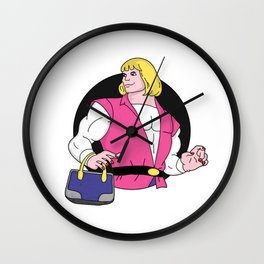 Adam goes Shopping Wall Clock
