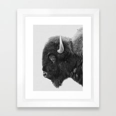 buffalo profile Framed Art Print