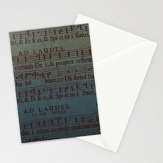 Music Sheet Stationery Cards