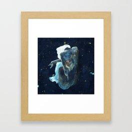Sitting by the Stars Framed Art Print