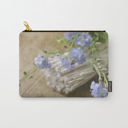 Do not forget me Blue flower Stil Life Carry-All Pouch