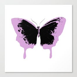 Black and pink butterflies Canvas Print