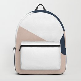 Navy and Cream Block Backpack
