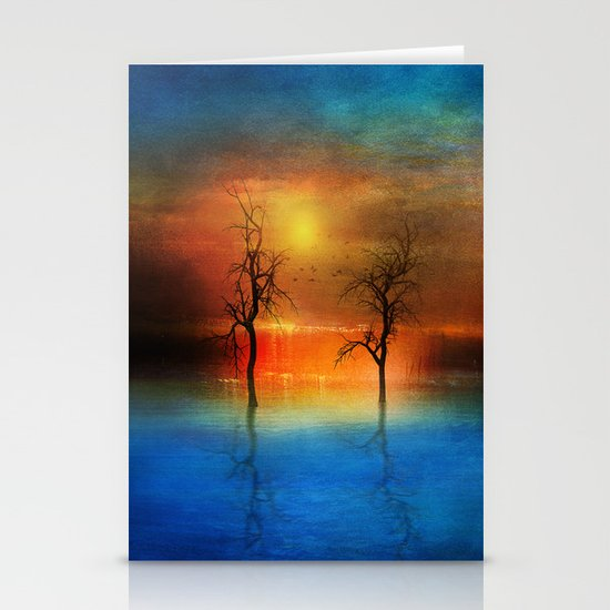 waterfall of light Stationery Cards
