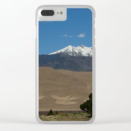 Great Sand Dunes and Mount Herard Clear iPhone Case