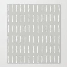 dash grey Canvas Print