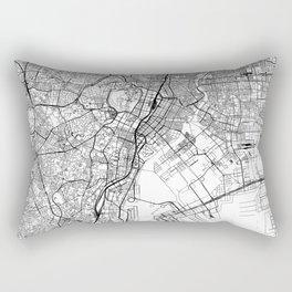 Tokyo White Map Rectangular Pillow