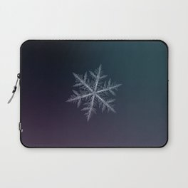 Real snowflake macro photo - Neon Laptop Sleeve