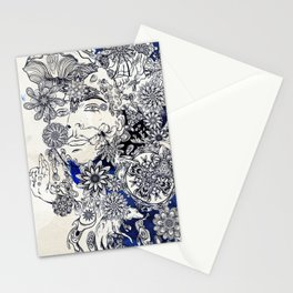 Moonlight Fountain Stationery Cards
