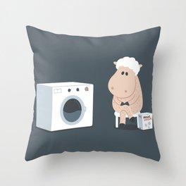 Wool wash Throw Pillow