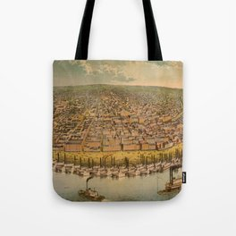 Vintage Pictorial Map of St. Louis (1859)  Tote Bag
