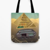 egypt Tote Bags featuring Egypt by Xènia Castellví