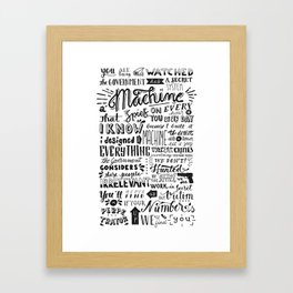 The Machine | Person of Interest Framed Art Print