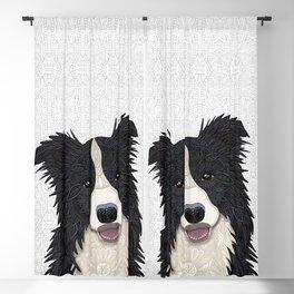 Happy Border Collie Blackout Curtain