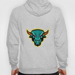 American Bison Head Sports Mascot Hoody