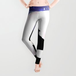 Wolf Howling to the Moon Leggings