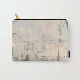 Vintage Montpelier Vermont Watercolor Painting (1841) Carry-All Pouch
