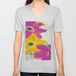 Every Day Floral Unisex V-Neck