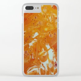 Orange Ink Clear iPhone Case