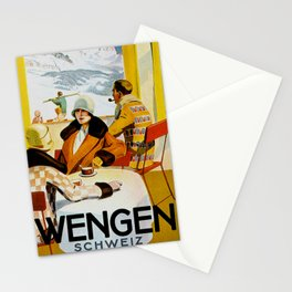 Vintage Wengen Switzerland Travel Stationery Cards