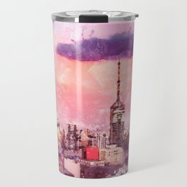 Sao Paulo - WaterColor 003C Travel Mug