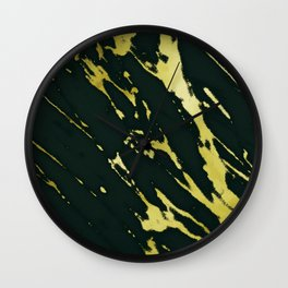 Gold Black Marble Wall Clock