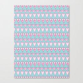 Doodle Love Heart Lines Canvas Print