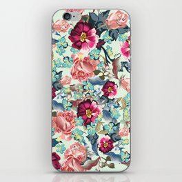 Beautiful victorian rose pattern in vintage style iPhone Skin