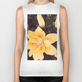 yellow lilies Biker Tank