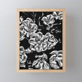 Flowers in Black & White Framed Mini Art Print