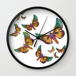 """Fantasy multicolored butterflies"" Wall Clock"
