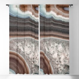 Dragon mouth agate geode Blackout Curtain