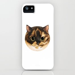 Round Cat - Lang iPhone Case