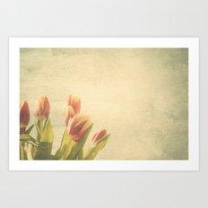 Tulipanes. Art Print