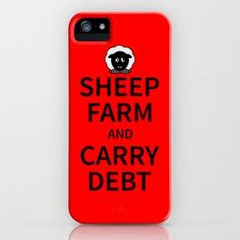 Sheep Keep Calm iPhone Case