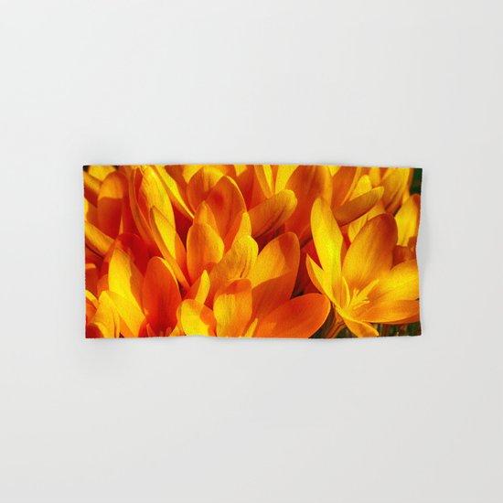 Yellow Flowers Hand & Bath Towel