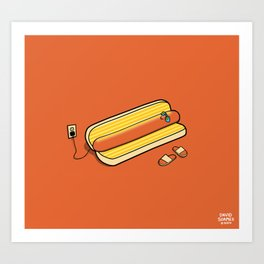 Cooking Up A Tan Art Print