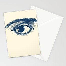 I see you. Navy Blue on Cream Stationery Cards