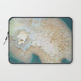 agate, quartz, crystal stone beige gold turquoise Laptop Sleeve