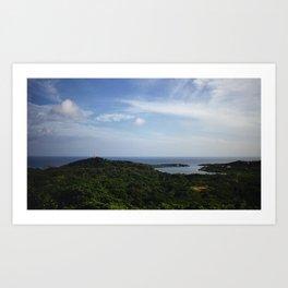 View of the Bay of Honduras from Roatan Art Print